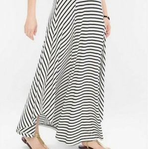 Chico's Black & White Maxi Skirt